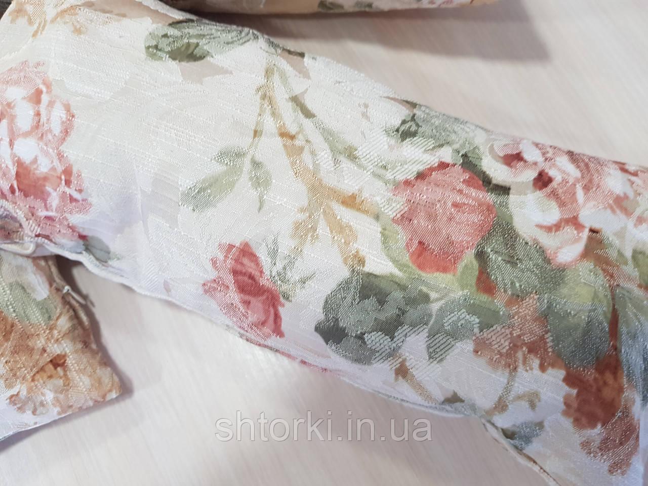 Комплект подушек  Розочки на ткани, 3шт