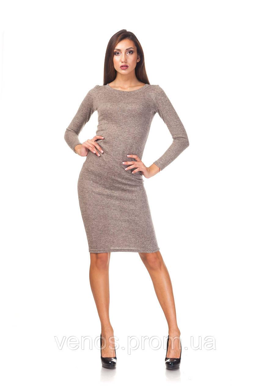 Женское платье миди из ангоры. П092