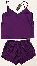 Нежный шелковый комплект майка и шортики  размер 48-50, фото 3