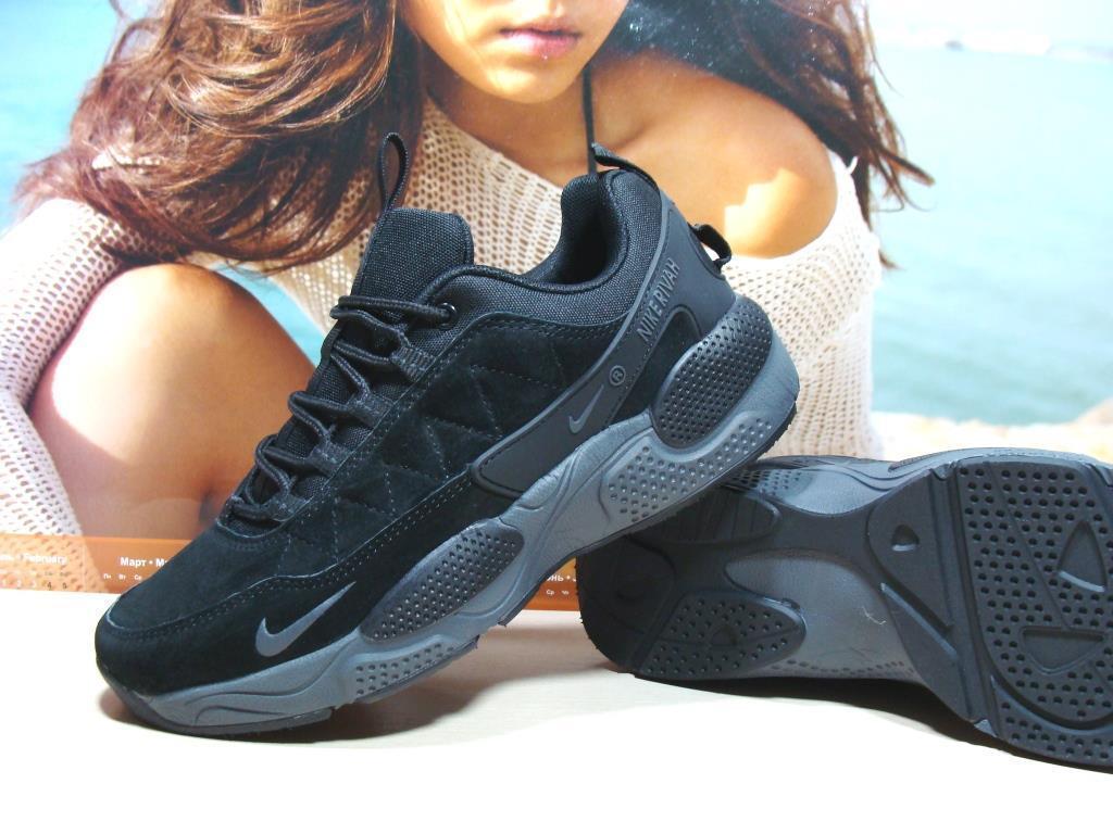 Кроссовки мужcкие Nike Rivah (реплика)черные 43 р.