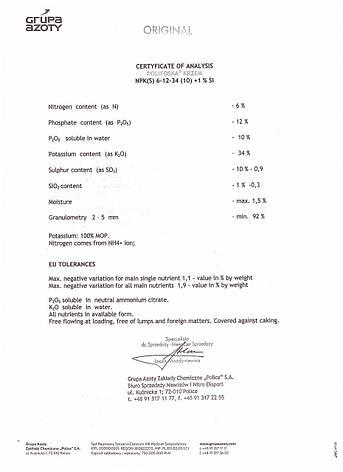 Поліфоска Крем NPK (S) 6-12-34 (10), фото 2