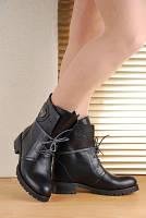 Ботинки кожанные зимние черные. Турция Украина.