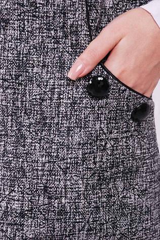 """Стильне короткий твідове сукня без рукавів """"Leonora"""" сніжинка чорна, фото 2"""
