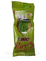 BIC® женские одноразовые станки BIC® Pure3 Lady 1уп/4шт