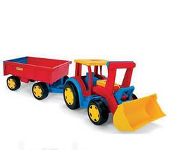 Машинка трактор гигант с ковшом Wader 66300