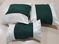 Комплект подушек Зелень и слоновая кость, 3шт