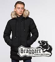 Braggart Youth | Зимняя куртка молодежная 25250 черная