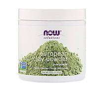 Now Foods, Solutions, European Clay Powder, очищающее средство для лица, 6 oz (170 гр)