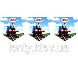"""Прапорці-гірлянда """"Паровозик Томас / Thomas"""" (гірлянда з п'ятикутних прапорців) вимпели -малотиражні видання-"""