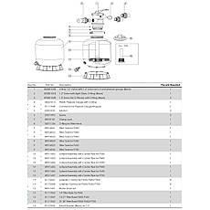 Фильтр Emaux P700 (19.2 м3/ч, D703), для бассейна объёмом до 80 м3, фото 3