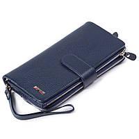 Мужской кошелек клатч кожаный синий BUTUN 022-004-034, фото 1