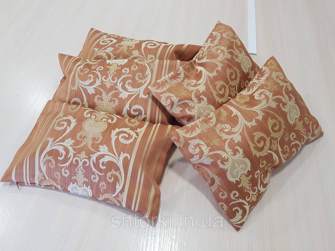 Комплект подушек NANCY коричневые,5шт