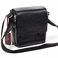 Мужская сумка кожаная черная Eminsa 6069-12-1