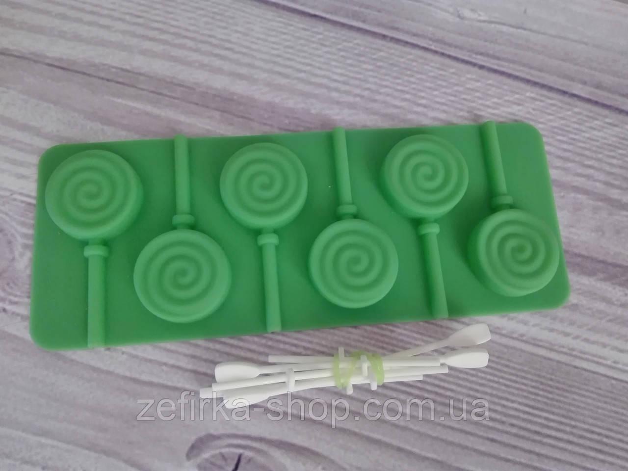 Силиконовая форма для конфет с палочками Леденец