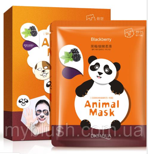 Набор 5 штук BIOAQUA Animal Mask Panda тканевая маска с экстрактом ежевики