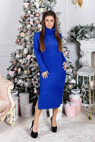 Платье теплое с люрексом , фото 2