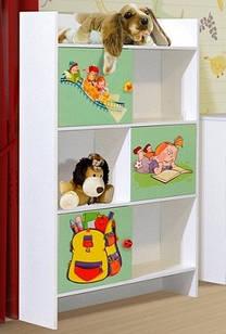 Шафа в дитячу кімнату з ДСП/МДФ книжкова Мульті Алфавіт Світ Меблів