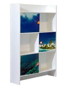Шафа в дитячу кімнату з ДСП/МДФ книжкова Мульті Дельфін Світ Меблів