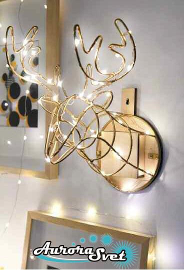 LED гирлянда-светильник ОЛЕНЬ LED. Светодиодная гирлянда. Гирлянда LED. Производство Франция.