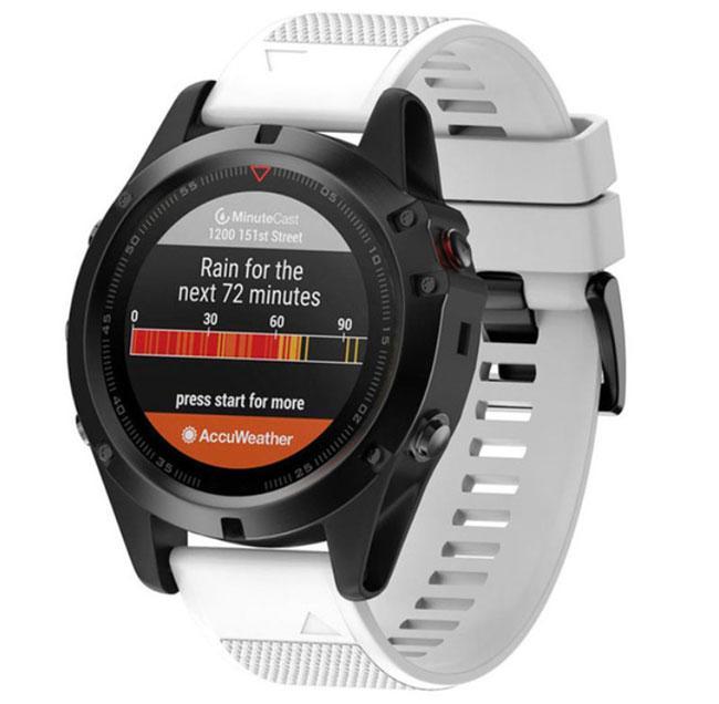 Силиконовый ремешок Primo для часов Garmin Fenix 3 / 3HR / Fenix 5X / 6X - White