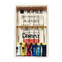 K-Files colorinox dentsply уп. 6 шт.№35,25мм