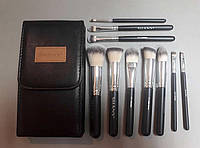 Набор кистей для макияжа SHANY Black OMBRÉ Pro 10 PC Essential Brush Set With Travel Pouch