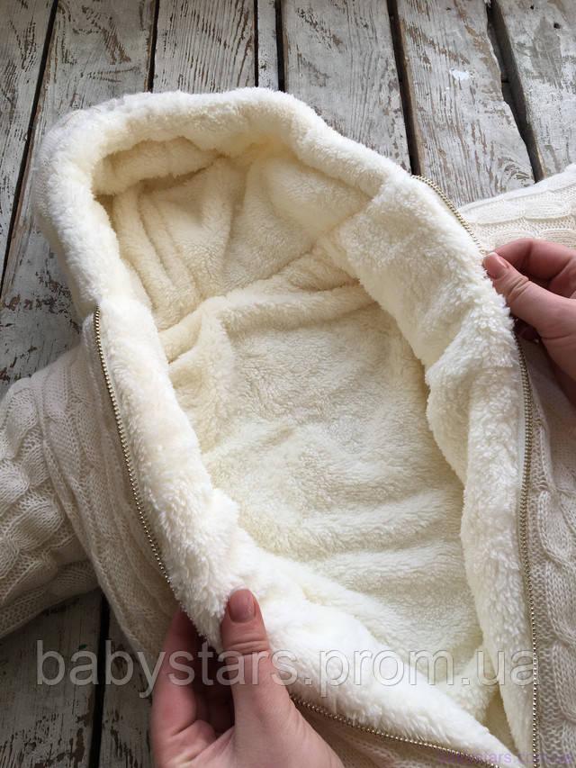 Теплый комбинезон-конверт для новорожденного