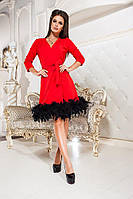 Платье с перьями Боа 34931, фото 1
