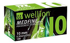 Иголки для инсулиновых шприц-ручек Wellion 0,30 мм (30G) × 10 мм №100