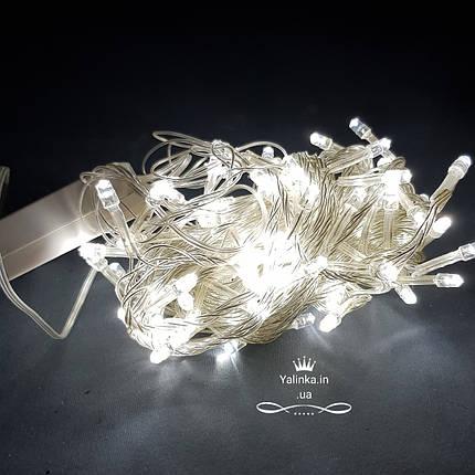 Гирлянда электрическая черный провод  LED  200 новогодняя белая   LED , фото 2