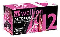 Иголки для инсулиновых шприц-ручек Wellion 0,33 мм (29G) × 12 мм №100