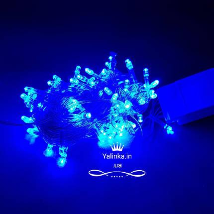 Гірлянда електрична чорний дріт LED 400 новорічна блакитна LED, фото 2