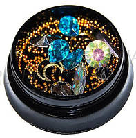 Набор камней для маникюра Декор для дизайна ногтей микс в банке 1 YRE \ 05.31