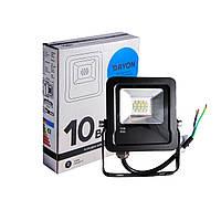 Прожектор светодиодный уличный DAYON LSR1501 10W 6500K IP65 Черный, КОД: 146608