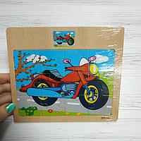 "Деревянные пазл 12эл. ""Мотоцикл"""