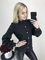 Женская стильная удобная блузка с длинным рукавом. Ткань софт, 3 цвета