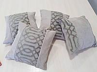Комплект подушек серые с узором,4шт