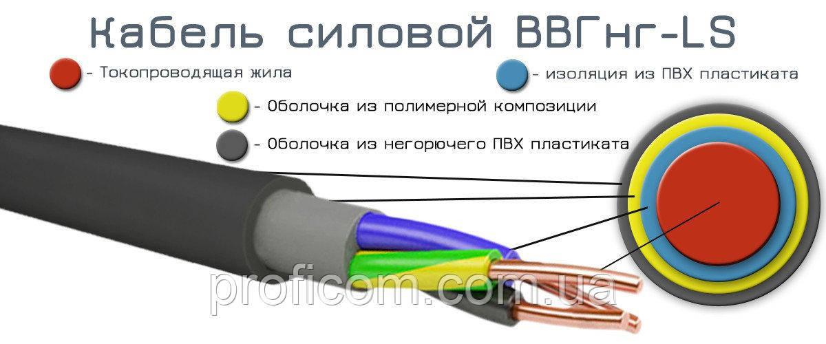 ВВГнг-LS 4х4,0 кабель негорючий