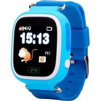 Детские часы Smart Baby Watch  с GPS трекером Q100 (Q90) Vibro голубые