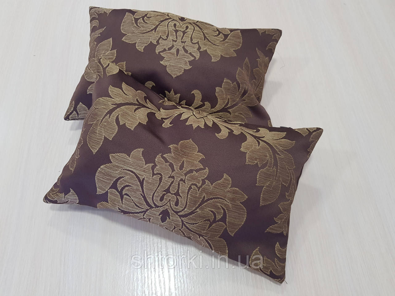 Комплект подушек  шоколадные с узором, 2шт