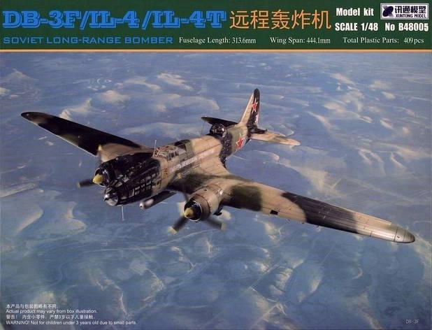Бомбардировщик ДБ-3Ф/Ил-4/Ил-4Т (DB-3F/IL-4/IL-4T). 1/48 Xuntong model B48005, фото 2