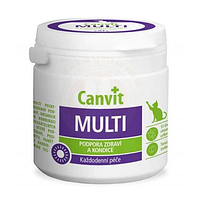 Витамины Canvit Multi (мультивитаминные таблетки для взрослых котов) 100г