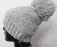 Теплая шапка зимняя вязаная шапка