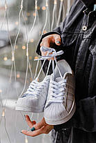 Женские кроссовки Adidas Superstar White Адидас Суперстар белые, фото 2