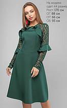 Женское расклешенное платье с гипюровыми рукавами (3147 lp), фото 3