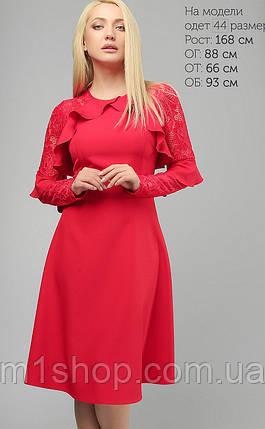 Женское расклешенное платье с гипюровыми рукавами (3147 lp), фото 2