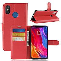 """Чехол для Xiaomi Mi 8 6.21"""" книжка PU-Кожа красный"""