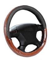"""Чехол на руль  45 см размер XХL черно-коричневый """"под дерево"""" Elegant Plus EL 105508"""