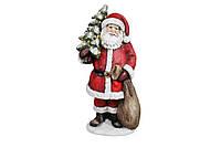 """Фигурка керамическая под елку """"Санта с елкой"""" с лед-гирляндой , 80 см, фото 1"""