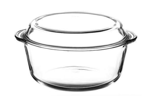 Кастрюля Borcam 59013 с крышкой, стекло, 3150мл